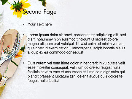 Table Setting Ideas PowerPoint Template Slide 2
