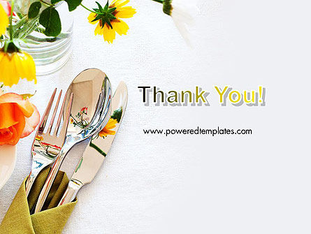 Table Setting Ideas PowerPoint Template Slide 20