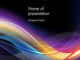 Abstract/Textures: Glow and Lines PowerPoint Template #13644