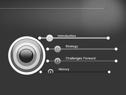 Epicenter Abstract PowerPoint Template Slide 3