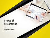 Construction: Architect at Work PowerPoint Template #13646