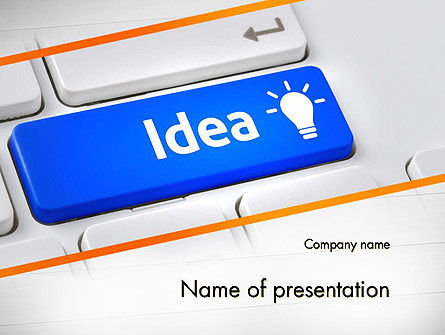 Business Concepts: Idea Knop Op Het Toetsenbord PowerPoint Template #13648