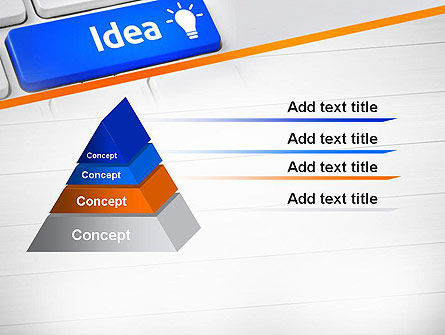 Idea Button On Keyboard PowerPoint Template Slide 12