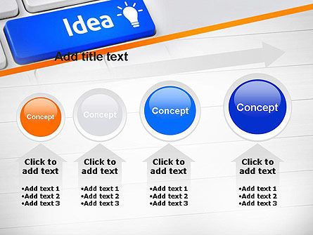 Idea Button On Keyboard PowerPoint Template Slide 13