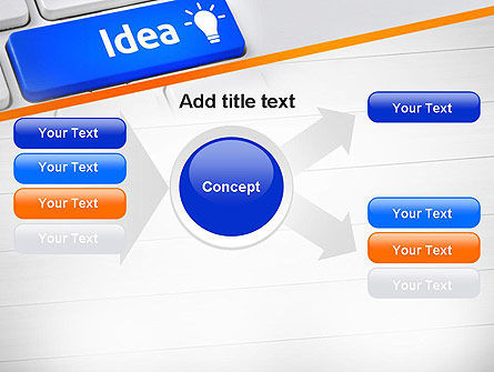 Idea Button On Keyboard PowerPoint Template Slide 14