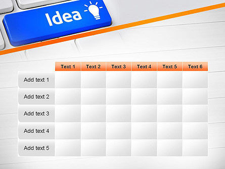 Idea Button On Keyboard PowerPoint Template Slide 15