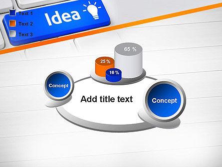 Idea Button On Keyboard PowerPoint Template Slide 16