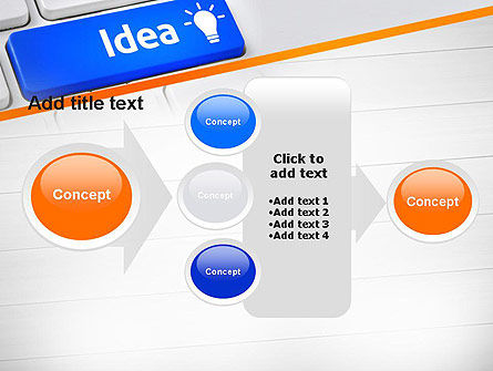 Idea Button On Keyboard PowerPoint Template Slide 17