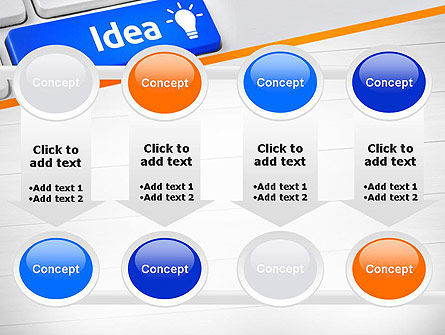 Idea Button On Keyboard PowerPoint Template Slide 18