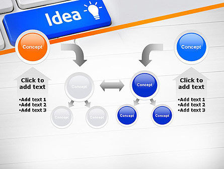Idea Button On Keyboard PowerPoint Template Slide 19