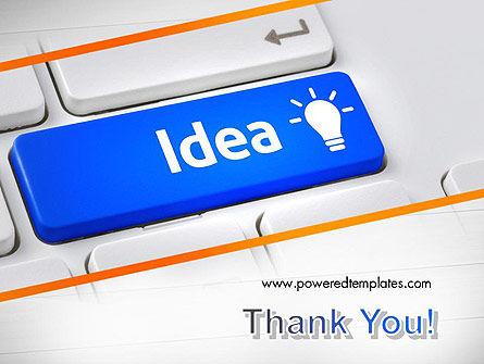 Idea Button On Keyboard PowerPoint Template Slide 20