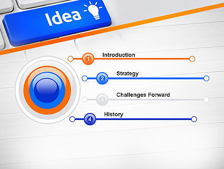 Idea Button On Keyboard PowerPoint Template Slide 3