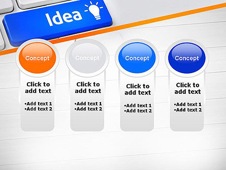 Idea Button On Keyboard PowerPoint Template Slide 5