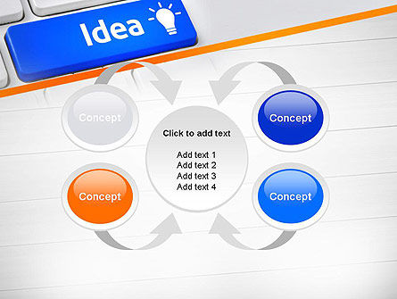 Idea Button On Keyboard PowerPoint Template Slide 6