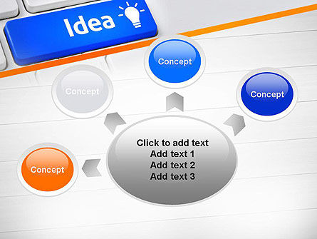 Idea Button On Keyboard PowerPoint Template Slide 7