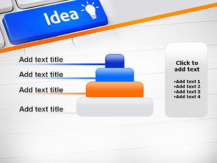 Idea Button On Keyboard PowerPoint Template Slide 8