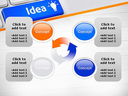 Idea Button On Keyboard PowerPoint Template Slide 9