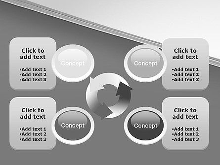 Splitted Diagonally Abstract PowerPoint Template Slide 9