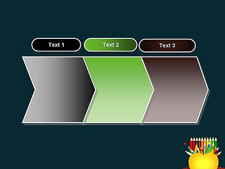 Knowledge Apple and Colored Pencils PowerPoint Template Slide 16