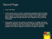 Knowledge Apple and Colored Pencils PowerPoint Template#2