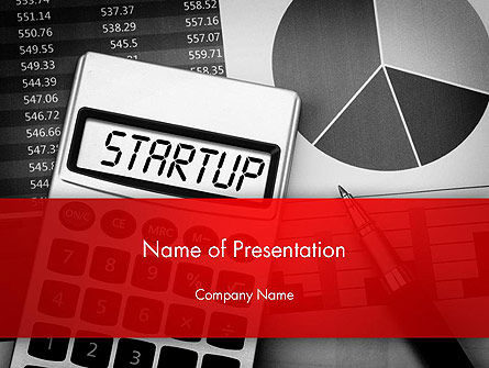 Startup Calculator PowerPoint Template