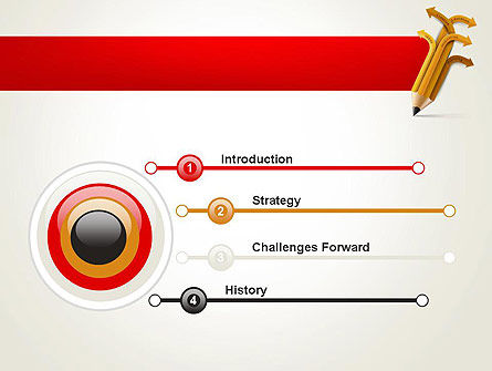 Education Pencil PowerPoint Template, Slide 3, 13657, Education & Training — PoweredTemplate.com