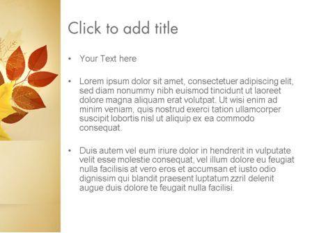 Bunch of Autumn Leaves PowerPoint Template, Slide 3, 13658, Nature & Environment — PoweredTemplate.com