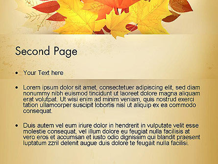 Bunch of Autumn Leaves PowerPoint Template, Slide 2, 13658, Nature & Environment — PoweredTemplate.com