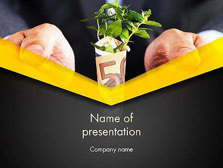 Financial/Accounting: Growing Startup PowerPoint Template #13662
