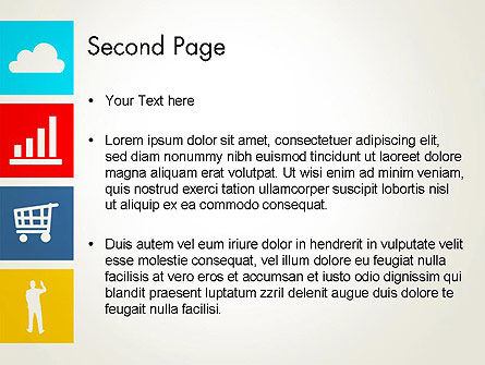 Color Technology Flat Icons PowerPoint Template Slide 2