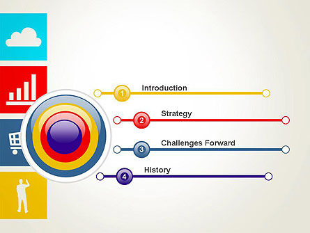 Color Technology Flat Icons PowerPoint Template, Slide 3, 13663, Technology and Science — PoweredTemplate.com