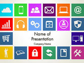 Technology and Science: Color Technology Flat Icons PowerPoint Template #13663