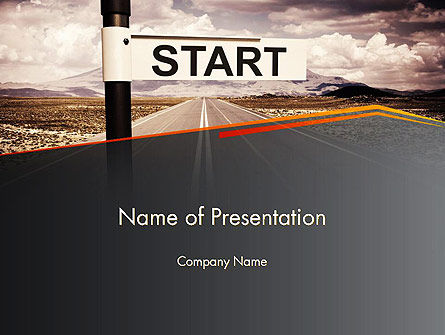 A Big Start PowerPoint Template, 13664, Business Concepts — PoweredTemplate.com