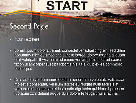 A Big Start PowerPoint Template Slide 2