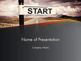 Business Concepts: A Big Start PowerPoint Template #13664