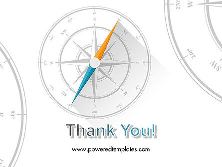Compass on Wind Rose PowerPoint Template Slide 20