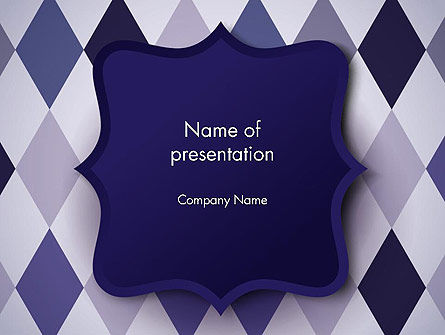 Dark Blue Polygonal PowerPoint Template