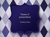 Abstract/Textures: Dark Blue Polygonal PowerPoint Template #13666