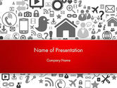 Careers/Industry: Virtual Community Icons PowerPoint Template #13667
