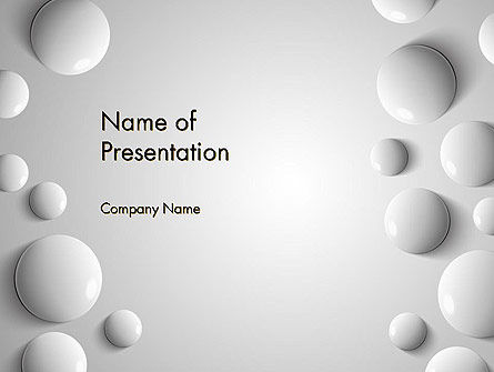 3D: White Drops PowerPoint Template #13668