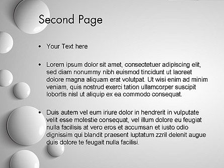 White Drops PowerPoint Template Slide 2