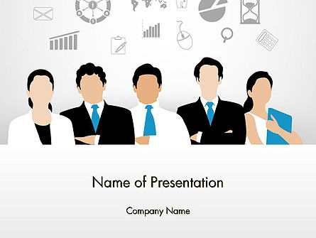 Business Team Showing Unity PowerPoint Template, 13671, Business — PoweredTemplate.com