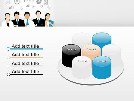 Business Team Showing Unity PowerPoint Template Slide 12