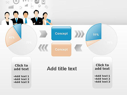 Business Team Showing Unity PowerPoint Template Slide 16