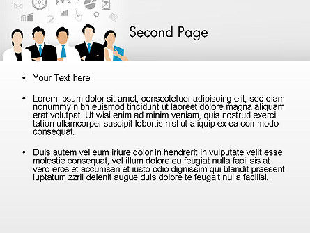 Business Team Showing Unity PowerPoint Template, Slide 2, 13671, Business — PoweredTemplate.com