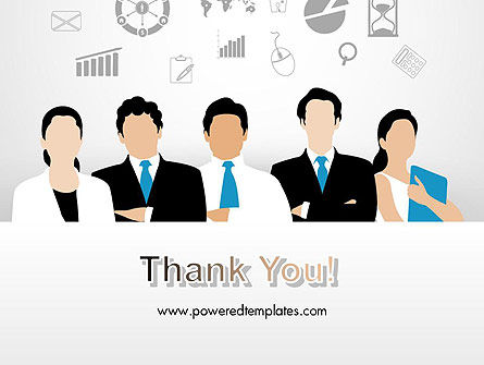 Business Team Showing Unity PowerPoint Template Slide 20