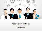 Business: Business Team Showing Unity PowerPoint Template #13671