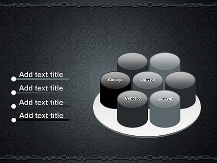 Dark Background with Ornament PowerPoint Templat Slide 12