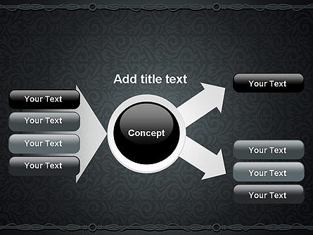 Dark Background with Ornament PowerPoint Templat Slide 15