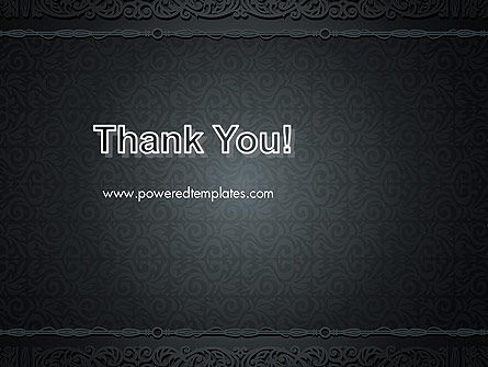 Dark Background with Ornament PowerPoint Templat Slide 20